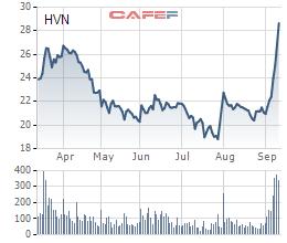 Sau giai đoạn tăng nóng, cổ phiếu HVN của Vietnam Airlines bất ngờ giảm sâu - Ảnh 2.