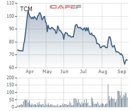 Dệt may Thành Công (TCM): Cổ phiếu liên tục giảm xuống 66.000 đồng/cp, tháng 8 bất ngờ báo lỗ hơn 6 tỷ đồng - Ảnh 1.