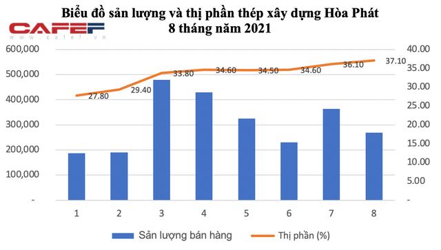Thị phần thép xây dựng Hòa Phát tăng lên 37% - Ảnh 1.