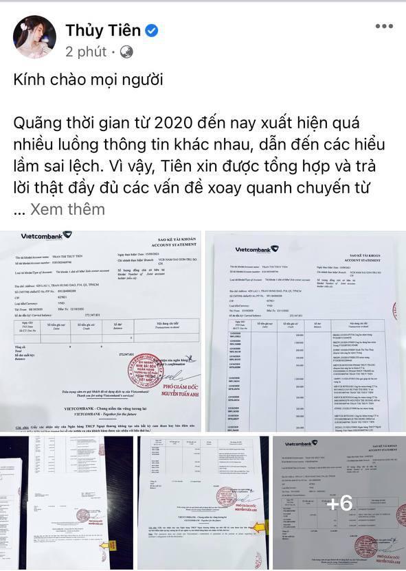 Thuỷ Tiên công bố 18.000 trang sao kê ngân hàng, làm rõ các khoản thu - chi và chốt 1 ý đặc biệt quan trọng  - Ảnh 1.