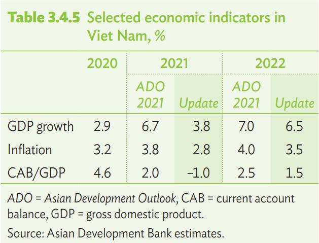 ADB hạ dự báo tăng trưởng GDP Việt Nam 2021 xuống còn 3,8% - Ảnh 3.