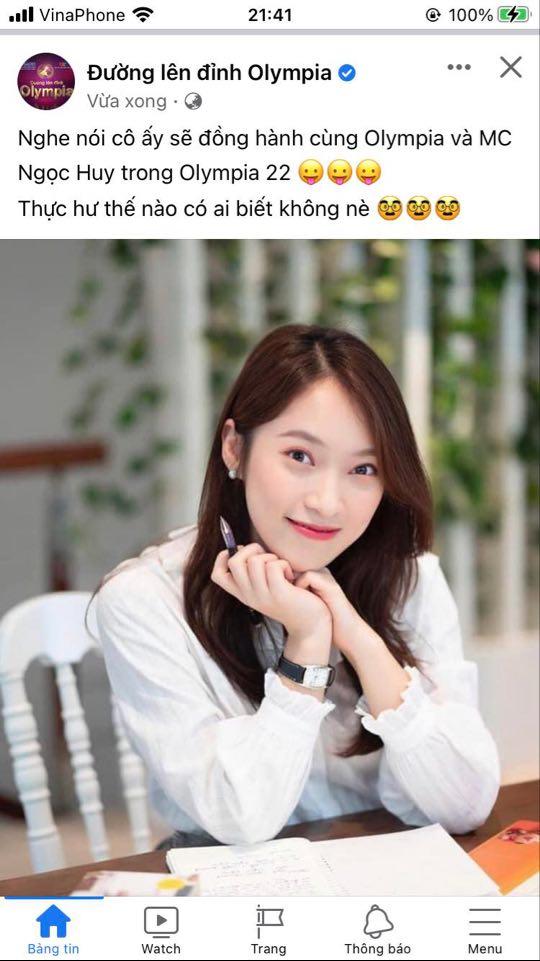 NÓNG: Khánh Vy trở thành MC chính thức của Đường Lên Đỉnh Olympia? - Ảnh 1.