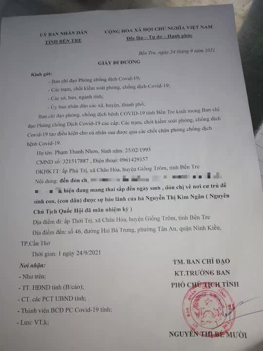 Dùng giấy đi đường giả ghi đón con dâu nguyên Chủ tịch Quốc hội  - Ảnh 1.