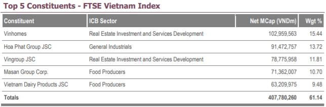 FTSE Vietnam Index chính thức thêm mới KDH, VCI vào danh mục trong kỳ review quý 3 - Ảnh 1.