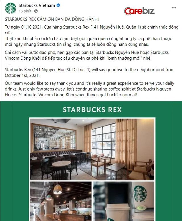Cửa hàng Starbucks có vị trí đắc địa nhất nhì Sài Gòn vừa ngậm ngùi thông báo đóng cửa - Ảnh 1.