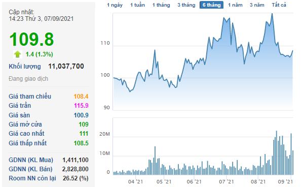 Vingroup đã bán xong hơn 100 triệu cổ phiếu Vinhomes (VHM), thu về gần 11.000 tỷ đồng - Ảnh 1.
