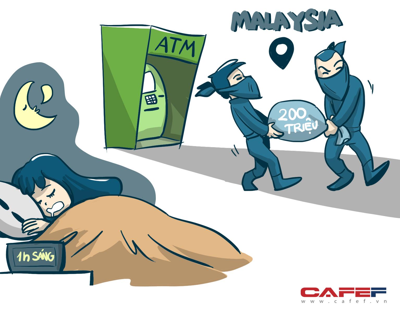 Vào một ngày nọ, ở khung trời xa xôi nước bạn (Malaysia), 1h sáng, hai tên hacker đã rút trộm 200 triệu đồng qua cây ATM trong khi thẻ của chính chủ vẫn trong ví tại Việt Nam còn chủ thẻ thì đang say giấc nồng.