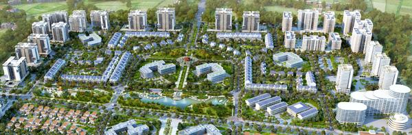 Phối cảnh dự án nhà ở xã hội thuộc Khu đô thị Đặng Xá 2, Gia Lâm, Hà Nội