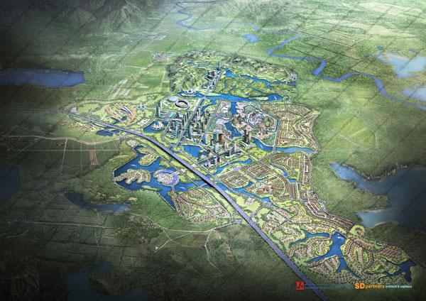 Phối cảnh tổng thể dự án Dream City, Việt Hân giới thiệu năm 2010