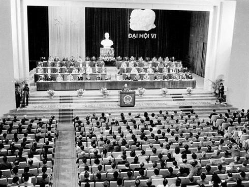 Đại hội Đảng lần thứ VI năm 1986 (Ảnh: TTXVN)