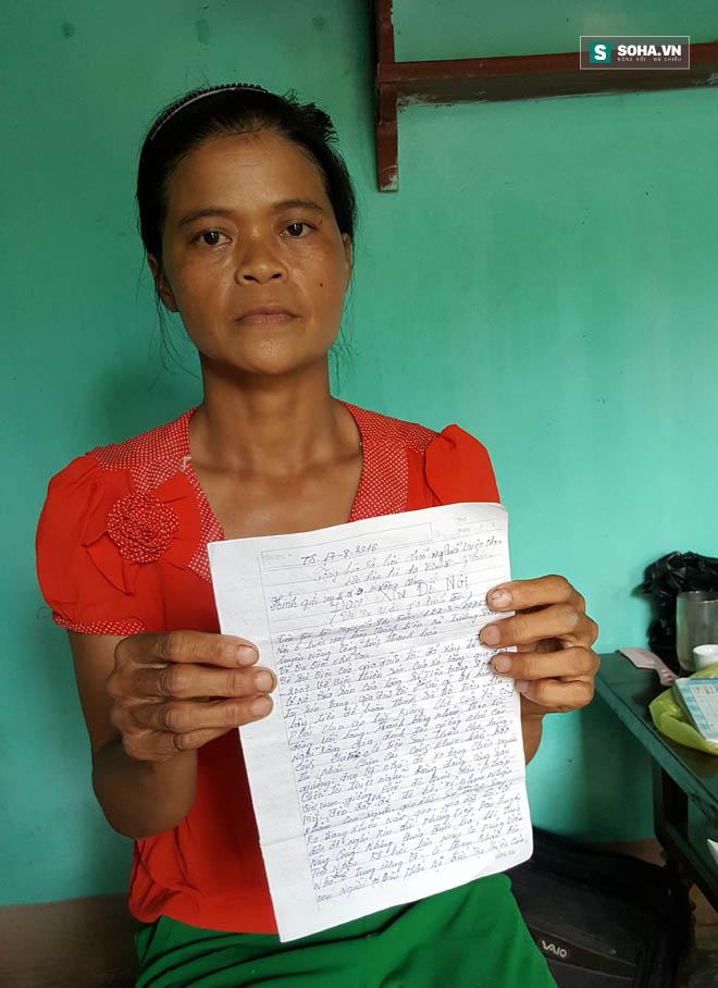 Chị Toàn làm đơn phản ứng lại báo cái sai sự thật của UBND huyện Nông Cống.