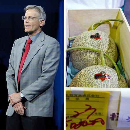 Đứng thứ 9 trong danh sách những người giàu nhất nước Mỹ là ông Jim Walton, người con út của nhà sáng lập Walmart, với tài sản trị giá 33,7 tỷ USD. Món ăn ưa thích của Jim Walton là dưa Yubari King của Nhật Bản. Đây là một trong những loại quả đắt giá nhất trên thế giới. Tuy nhiên, với giá thành 12.000 USD cho một thùng dưa Yubari King, Walton có thể mua được 12.000 thùng và đủ để chất đầy một siêu thị Walmart.