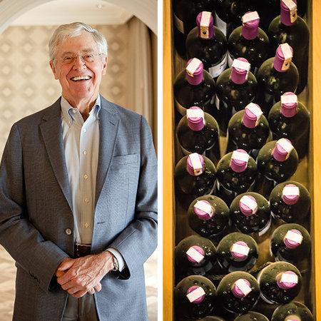Với 41 tỷ USD, tỷ phú Charles Kock có thể mua cho mỗi người dân sống tại bang Kansas 5 chai rượu Screaming Eagle Cabernet, món đồ uống ưa thích của ông, với giá 2.873 USD/chai.