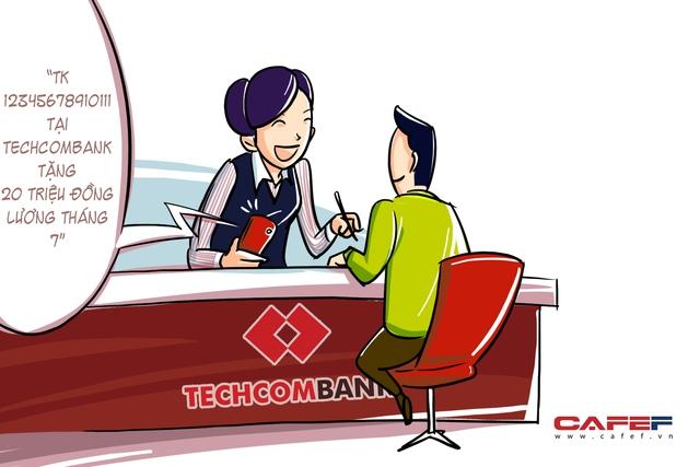 Thời gian gần đây, thị trường cũng đã quen dần với mức lương đột biến của nhân viên Techcombank. Ngân hàng cho biết thu nhập bình quân tháng mỗi cán bộ nhân viên là 20 triệu đồng/người. Mức này đã giảm 1 triệu đồng/tháng so với năm trước.