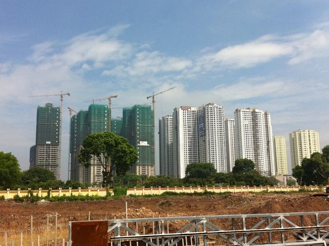 Khu chung cư Goldmark City là dự án đầu tiên Việt Hân xây dựng thành hình