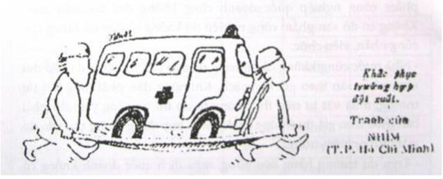 Hết xăng, ngay cả xe cấp cứu cũng phải đưa đi cấp cứu! (Báo Văn nghệ, ngày 23/10/1982)