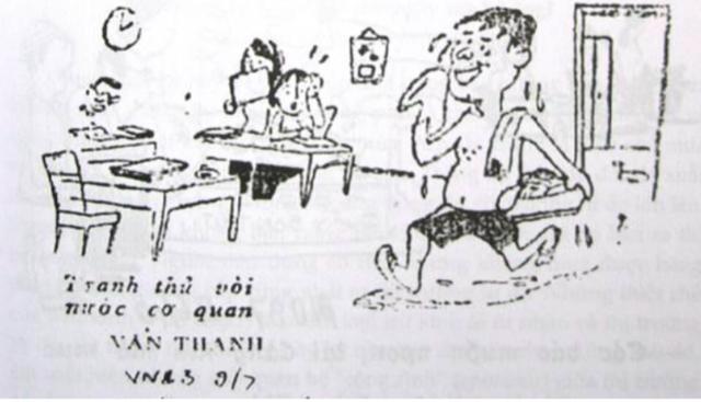 Phải tắm giặt nhờ vòi nước cơ quan (Báo Văn nghệ ngày 9/7/1983)