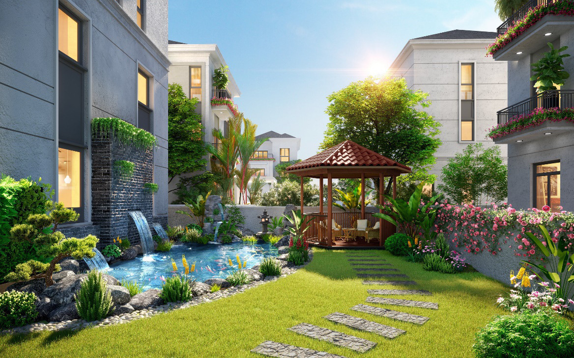 Nhà phố vườn ven sông - nơi giao thoa sinh thái và hiện đại
