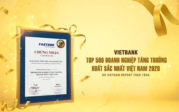 Vietbank được vinh danh Top 500 doanh nghiệp tăng trưởng nhanh nhất Việt Nam