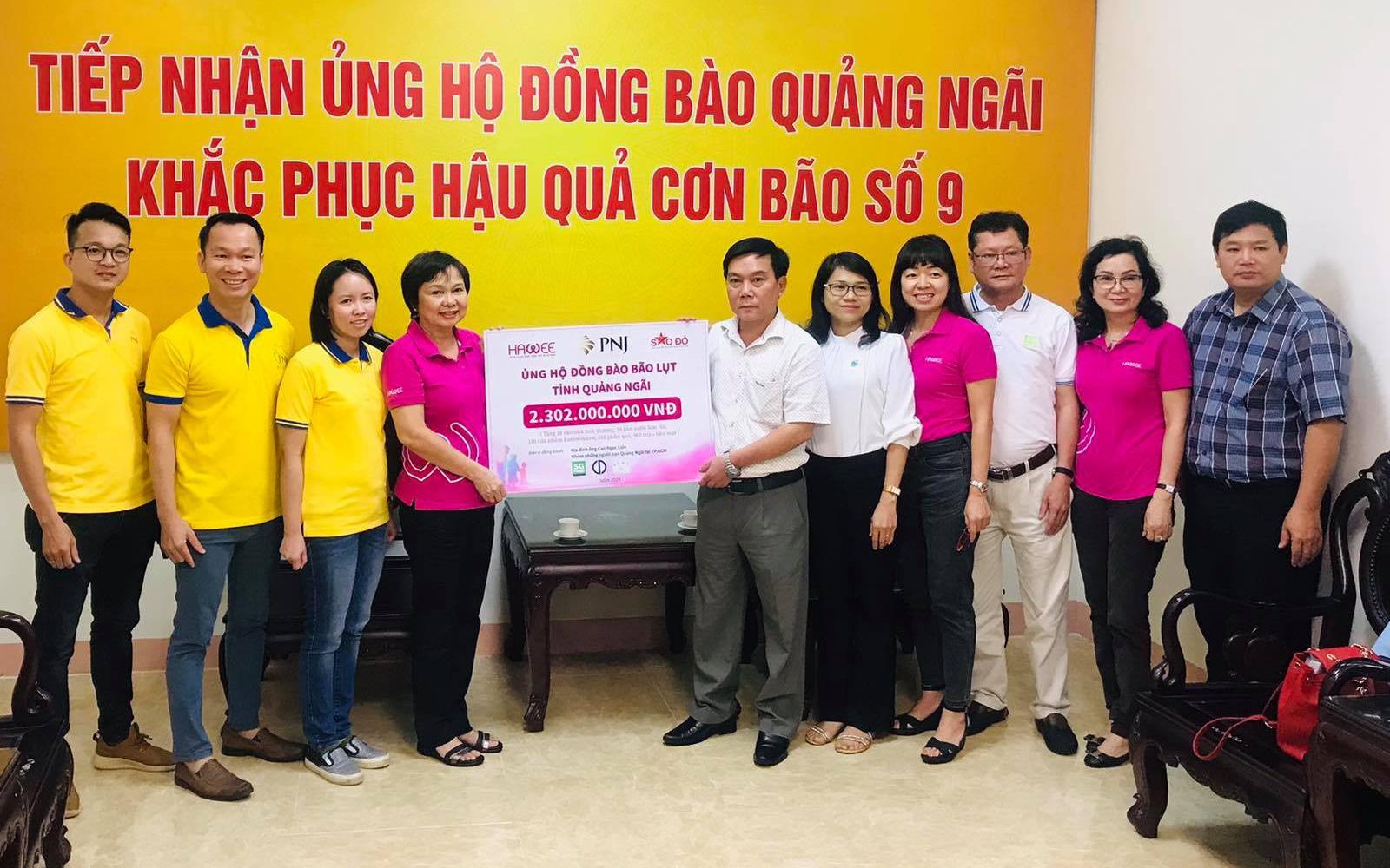 PNJ chung sức hỗ trợ người dân Quảng Ngãi sau cơn bão số 9