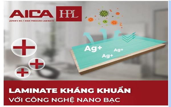 Laminate AICA Kháng khuẩn, kháng virus