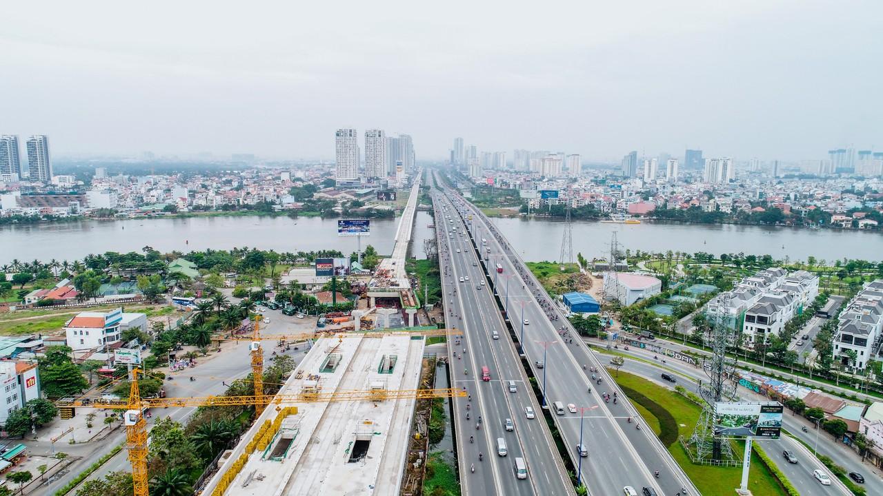 Toàn cảnh 20km tuyến đường sắt metro số 1 Bến Thành - Suối Tiên đang dần thành hình - Ảnh 13.