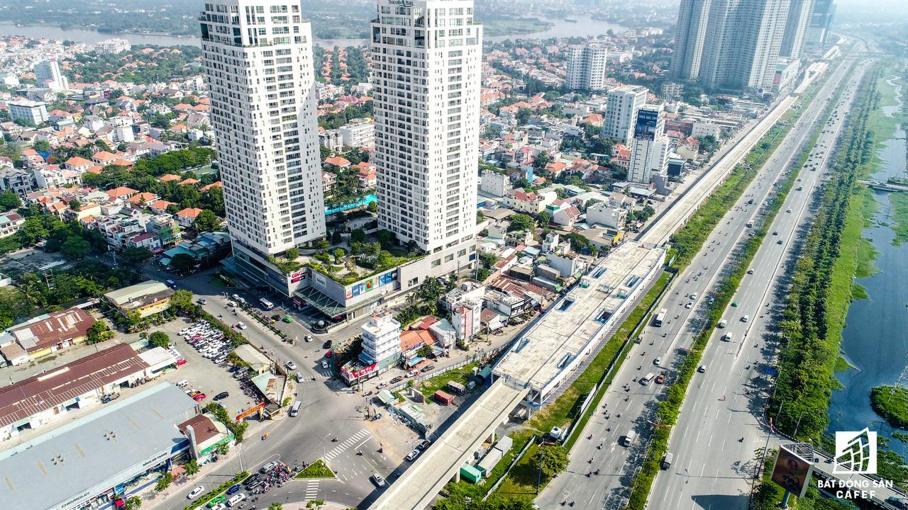 Toàn cảnh 20km tuyến đường sắt metro số 1 Bến Thành - Suối Tiên đang dần thành hình - Ảnh 9.