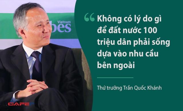 Tại phiên thảo luận với chủ đề Vượt qua thách thức, ông Trần Quốc Khánh nhấn mạnh vai trò nhu cầu trong nước trong tăng trưởng của Việt Nam khi các báo cáo cho thấy tốc độ tăng trưởng 9 tháng đầu năm 2016 chỉ đạt 5,96%, thấp hơn nhiều so với các năm trước. Theo các chuyên gia, tốc độ tăng trưởng thấp vì Việt Nam chịu những cú sốc lớn như xuất khẩu giảm và hạn hán ở Đồng bằng sông Cửu Long.