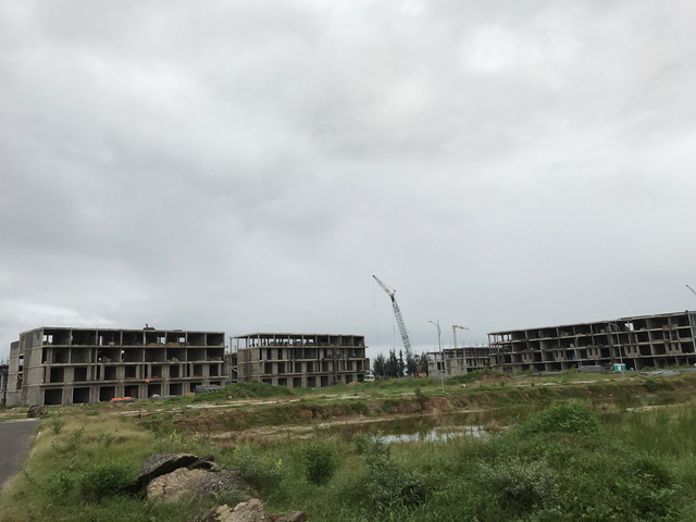 Phần xây dựng dự án của Nhà Đa Phước đang giai đoạn hoàn thiện hạng mục condotel