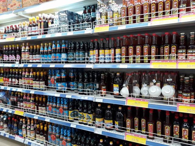Quầy nước mắm ở siêu thị Co.opmart Hà Đông
