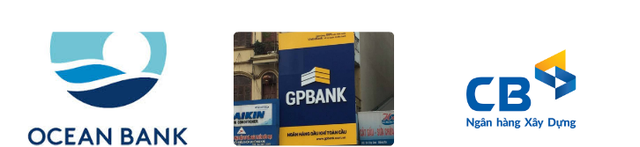 GPBank và VNCB đã có diện mạo mới, còn OceanBank vẫn như cũ