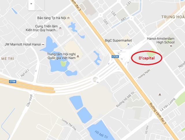 Dcapital tọa lạc ngay tại trục Trần Duy Hưng - Vành đai 3.