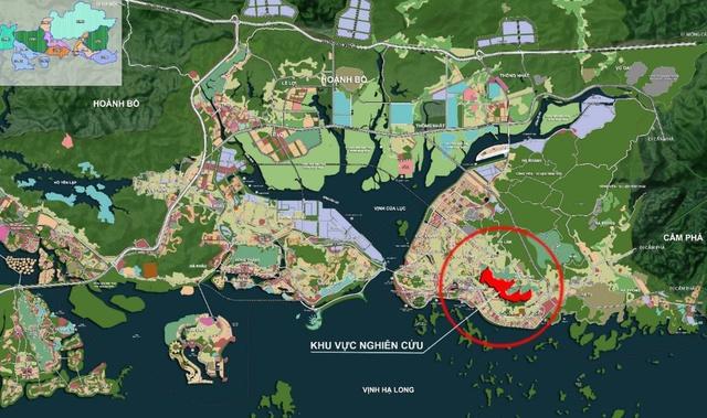 Vị trí dự án quần thể sân golf, biệt thự nghỉ dưỡng FLC Hạ Long