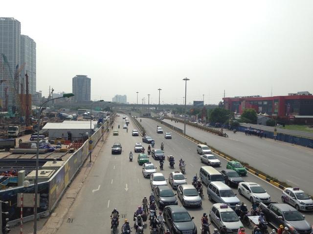 Đường Trần Duy Hưng đoạn dự án đi qua.