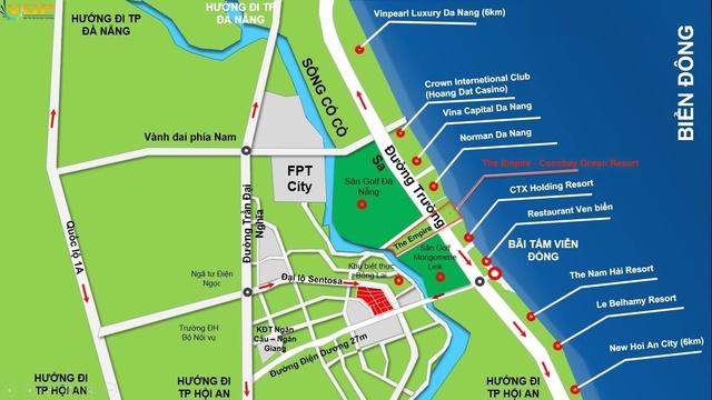 Cocobay Đà Nẵng nằm trên đường Trường Sa.