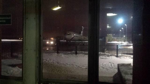 Hình ảnh cuối cùng của chiếc Tu-154 xấu số. Ảnh: Sputnik