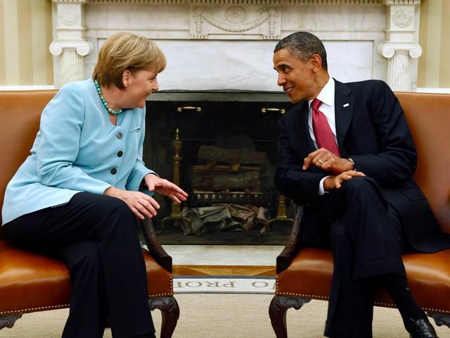 """Trong cuộc gặp chia tay, Tổng thống Obama gọi bà Merkel là """"đối tác nổi bật"""" đồng thời gọi bà là một nhà lãnh đạo """"xuất sắc"""". Ảnh: Reuters"""