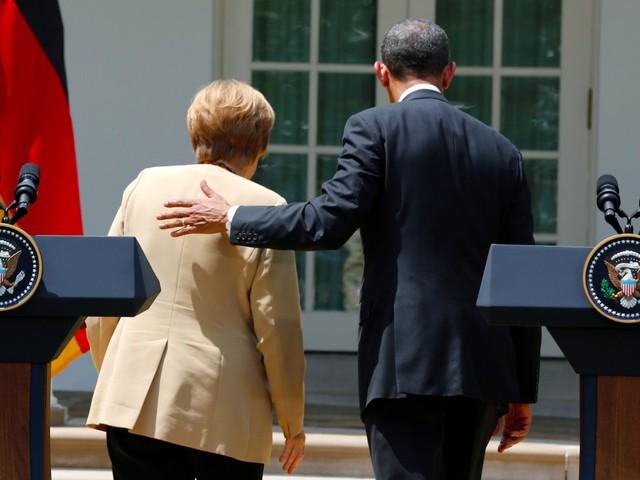 Tuy nhiên, người đứng đầu chính phủ Đức cũng thẳng thắn nhận định việc Tổng thống Obama ra đi là việc không thể khác và đó chính là cốt lõi của dân chủ Mỹ. Bà Merkel cũng thể hiện thiện chí làm việc với ông Trump, người kế nhiệm Tổng thống Obama. Ảnh: Reuters