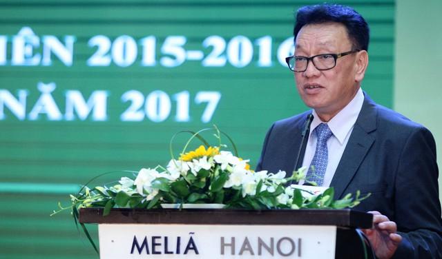 Phó Tổng giám đốc HNX Nguyễn Văn Dũng trình bày tại hội nghị