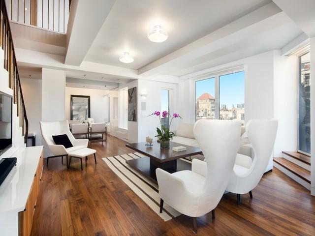 Keith Richard bán căn hộ với giá 12,2 triệu USD. Căn hộ có nội thất 2 màu đen trắng hiện đại.