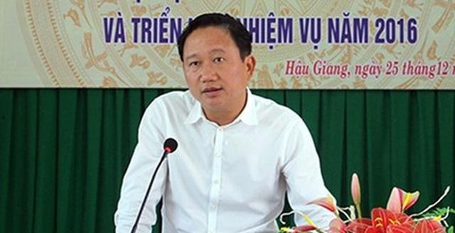 Trịnh Xuân Thanh đang bị truy nã.