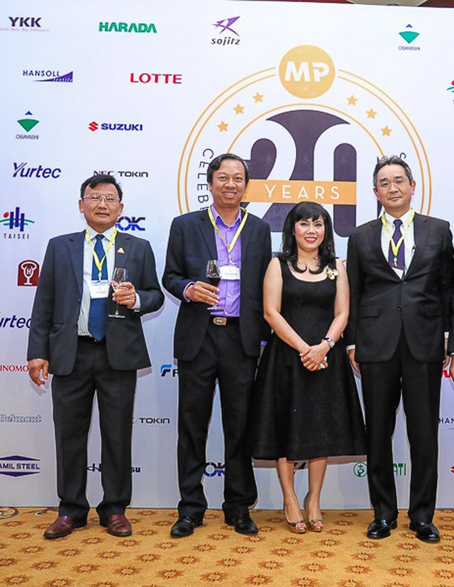 Bà Minh Phương tại sự kiện kỷ niệm 20 năm thành lập MP Logistics.