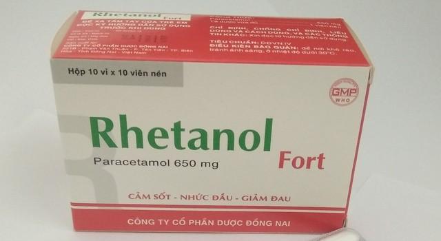 Thuốc Rhetanol Fort bị Sở Y tế Hà Nội đình chỉ lưu hành và yêu cầu thu hồi trên toàn thành phố
