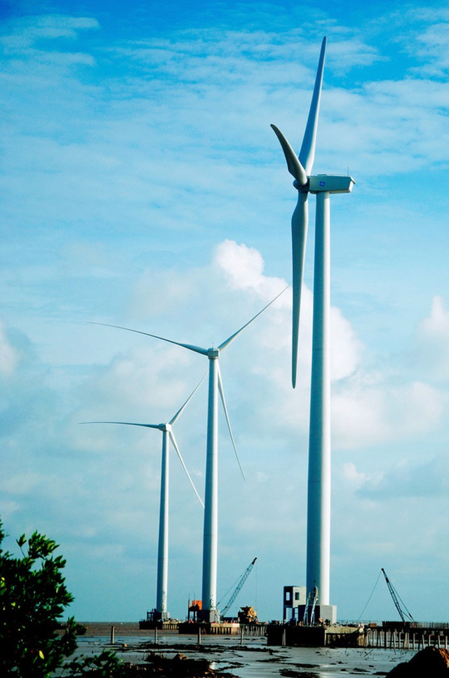 ĐBSCL có nguồn năng lượng gió dồi dào nhưng chưa được khai thác nhiều. Trong ảnh: Nhà máy Điện gió Bạc Liêu Ảnh: NGỌC TRINH