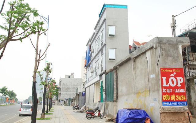 """Nhà """"siêu mỏng, siêu méo"""" trên đường Nguyễn Văn Huyên, quận Cầu Giấy."""