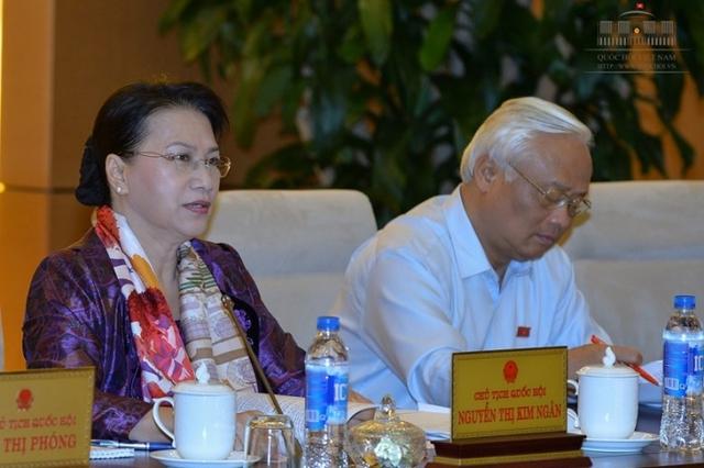 Chủ tịch Quốc hội Nguyễn Thị Kim Ngân cho biết nghị quyết về xử lý đối với cán bộ về hưu sẽ chưa trình Uỷ ban TVQH tại phiên họp lần này.