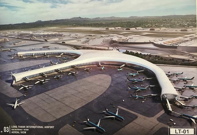 Một trong những phối cảnh dự án Sân bay Long Thành