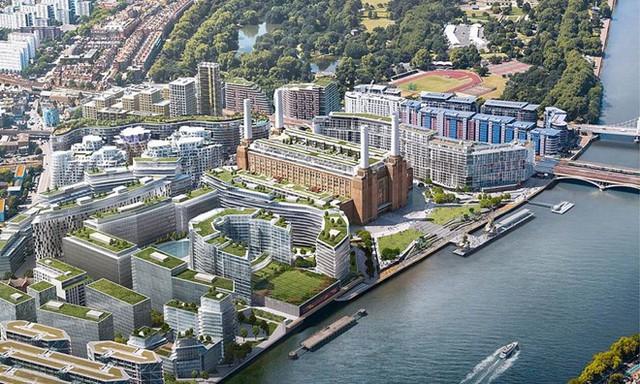 Nhà máy điện Battersea nằm tại bờ phía Nam của dòng sông Thames, thuộc quận Nine Elms, phía Tây Nam của London.