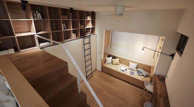 Không gian nhỏ bé nhưng không thiết một khu vực chức năng nào. Tất cả nội thất trong nhà đều được tính toán và sắp xếp rất thông minh.