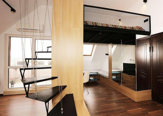 Căn hộ nhỏ được bố trí khéo léo, gọn gàng với đầy đủ không gian chức năng thỏa mãn nhu cầu của một cặp vợ chồng trẻ.